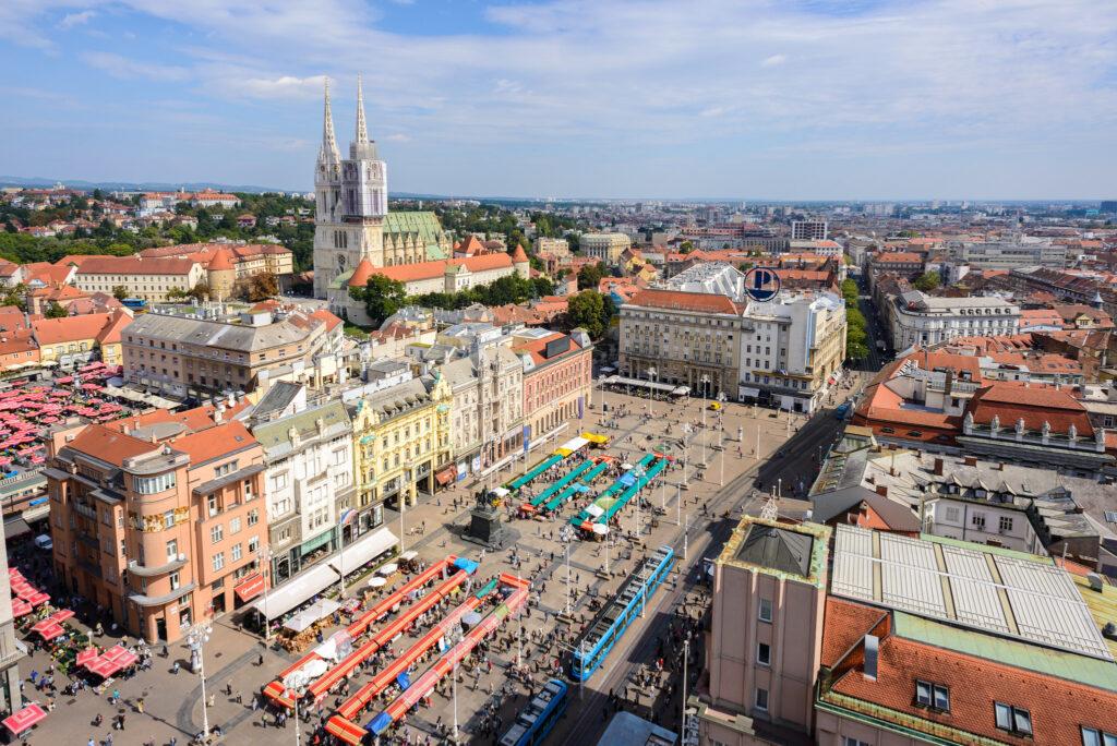 summer in Zagreb croatia