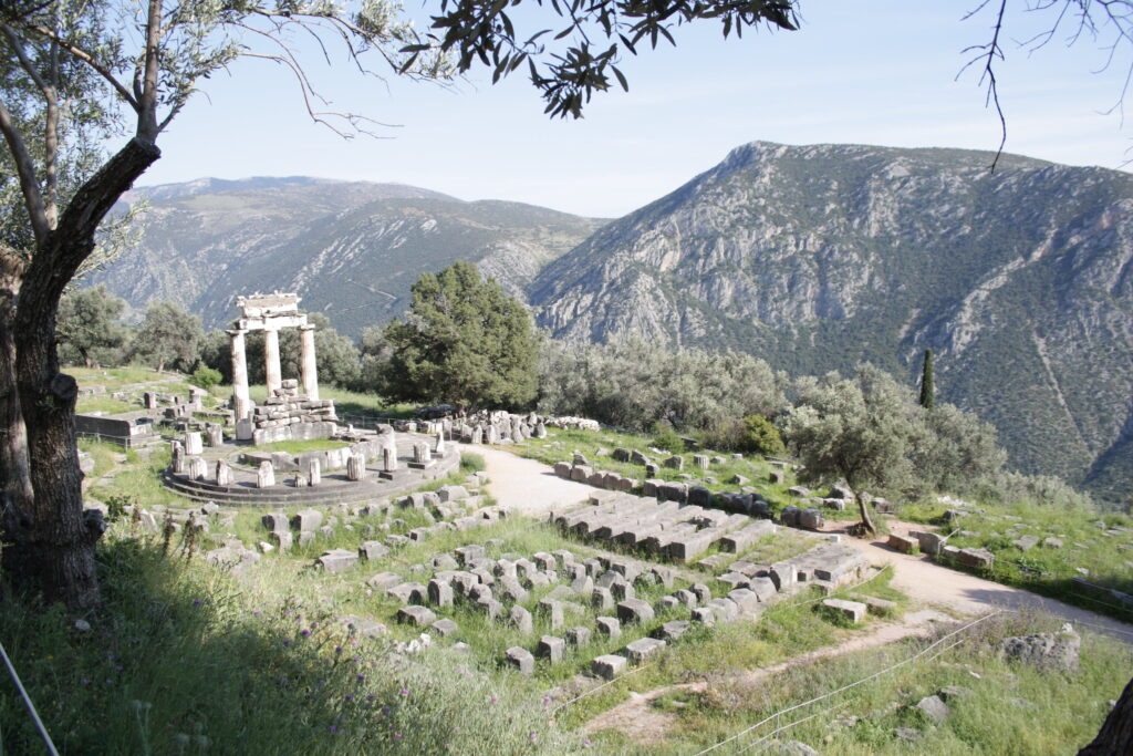 overlooking ruins at Delphi Greece a perfect summer travel choice
