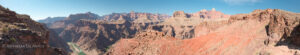 panorama from south kaibab trail overlooking grand canyon and colorado river