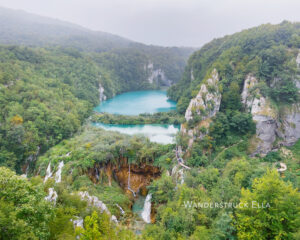 plitvice view south of lower lakes